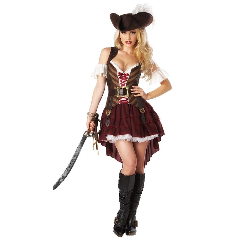 Fantasia de Pirata Preta e Dourada Melhor Preço Penha - Fantasia Pirata Feminina Infantil