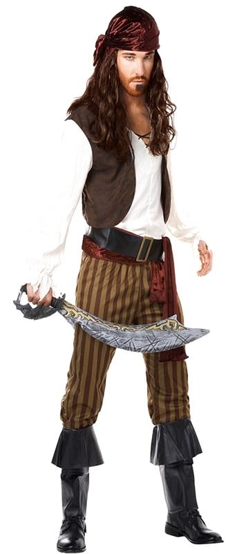 Fantasia Masculina de Pirata Valores Água Rasa - Fantasia Masculina com Suspensório