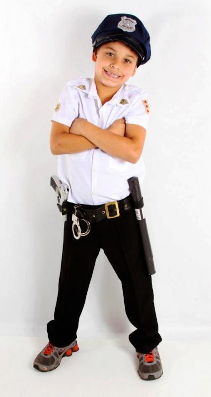 Fantasia para Carnaval de Policial Água Chata - Fantasia para Carnaval Casal