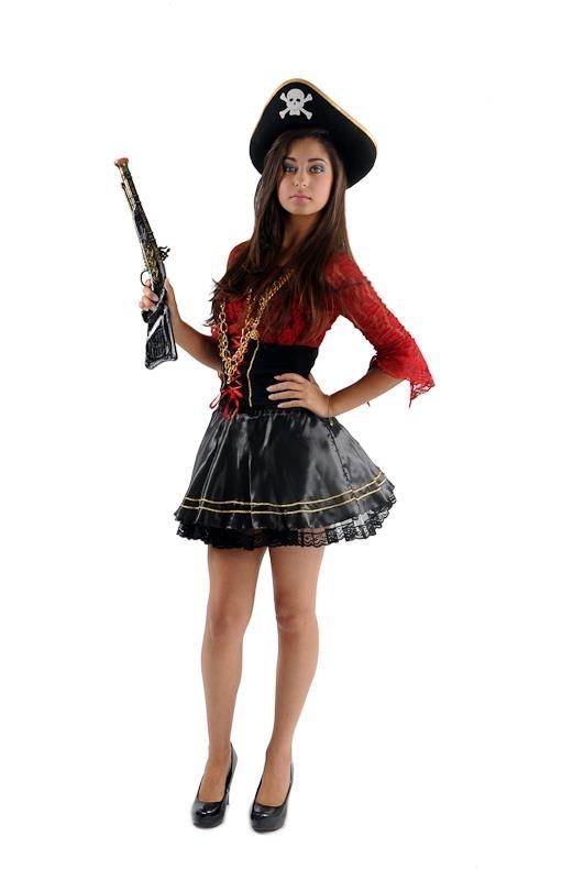 Fantasia Pirata de Luxo Vila Fátima - Fantasia Pirata Feminina Infantil