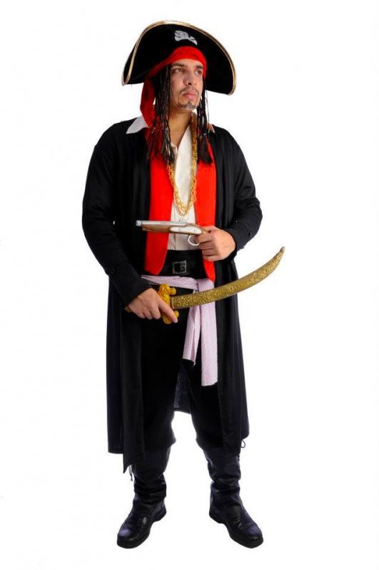 Quero Alugar Fantasia Masculina de Pirata Torres Tibagy - Fantasia Masculina de Pirata