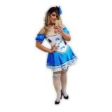 aluguel de fantasia feminina com corpete valor Itapegica