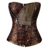 aluguel de fantasia feminina com corselet preço Taboão