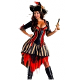 aluguel de fantasia feminina de pirata valor Zona Norte