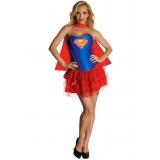 fantasia feminina de super herói preço Aricanduva