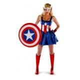 fantasia feminina de super herói Vila Augusta