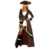 fantasia pirata de luxo feminina melhor preço Água Rasa