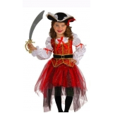 fantasia pirata feminina infantil Pimentas