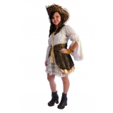 fantasia pirata feminina luxo melhor preço Taboão