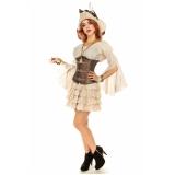 fantasia pirata feminina luxo Cabuçu
