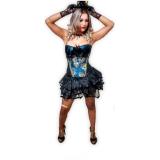 locar fantasia com corset Picanço