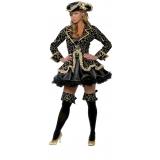 quanto custa locação de fantasia de pirata preta e dourada Belém